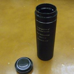 ステンレスサーモボトル・スリムブラック(500ml)