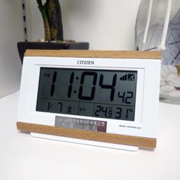 シチズン電波時計パル・デジットキング(木目調)