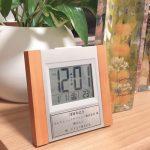 ウッド電波時計・シンプル